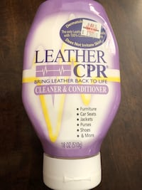Brand new bottle of leather conditioner