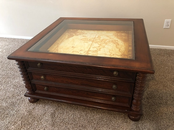Cool Lane Home National Geographic Map Glass Top Coffee Table Evergreenethics Interior Chair Design Evergreenethicsorg
