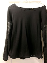 Black Dex sweater with leather sleeves Toronto, M4S 2L3