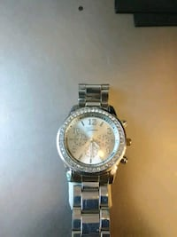 round silver-colored chronograph watch with link bracelet Pittsburgh, 15206