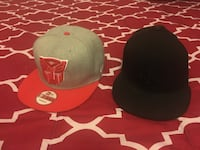 two black and red fitted caps Markham, L3S 3Y9