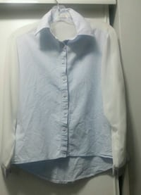 Sleeve length tulle shirt. Size : M