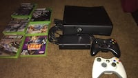Xbox 360 console with controller and game cases New Haven, 06513