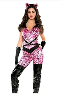 NEW BAD KITTY Womens Halloween Costume size Small Pearl, 39208