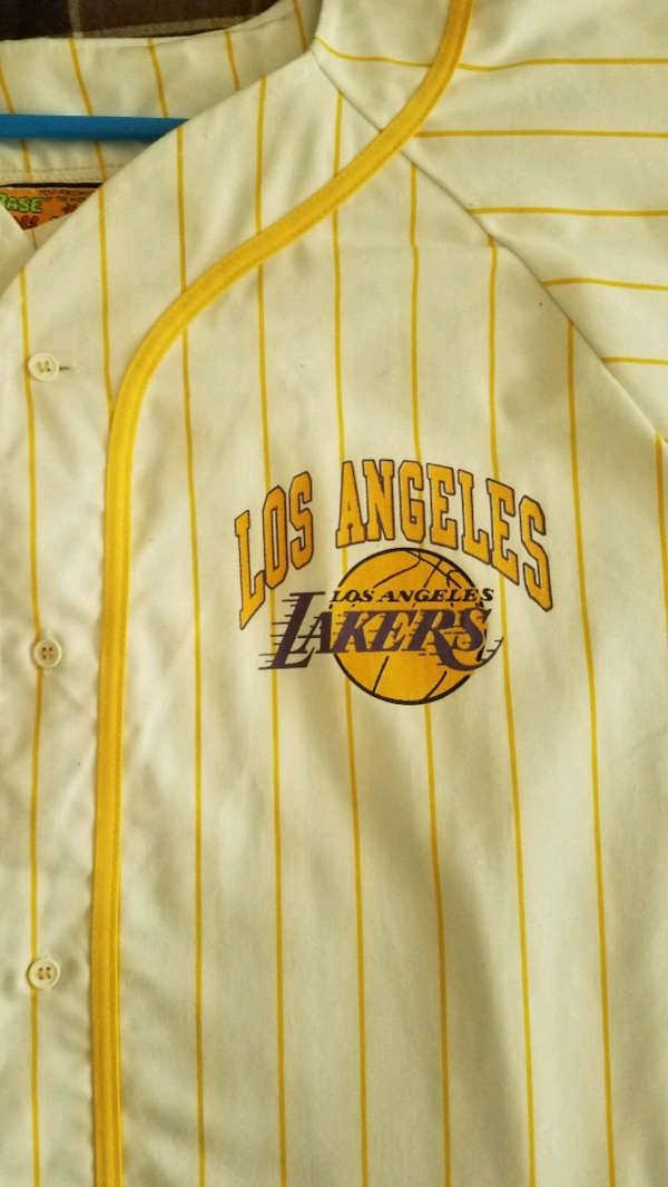 ad331535a Used Vintage throw back lakers baseball jersey for sale in Lake ...