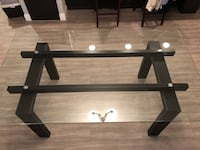 """Rooms to go - 72""""x42"""" glass top dining room table"""