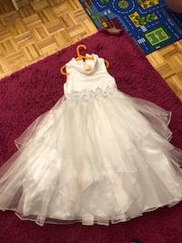 White dress party  size 10 for girls