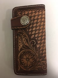 Brown and black leather clutch wallet  Sherwood Park