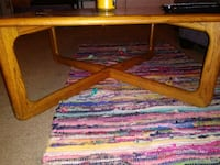 Brown wooden coffee table 272 mi