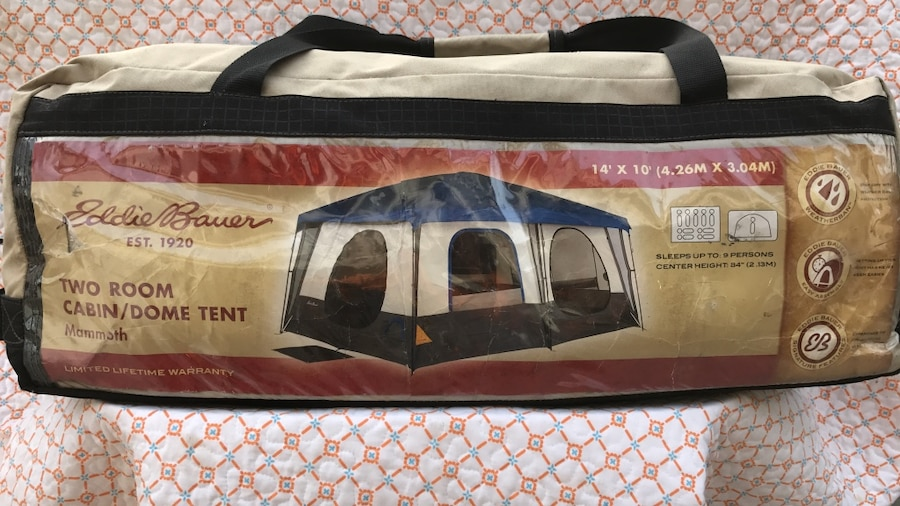 & Used eddie bauer two room cabin/dome tent in Chino Hills