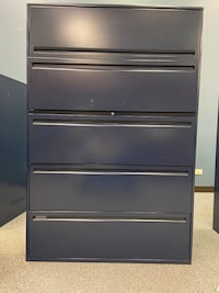 SET OF TWO LARGE FILING CABINETS
