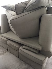 Tan 3 seat sleep sofa with 2 seat love seat.  Make and offer... Bethesda