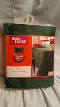 Better Homes Green oblong table cloth  Price, 84501