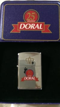 Doral 25 zip lighter, never been used with metal display case. Rochester, 14609
