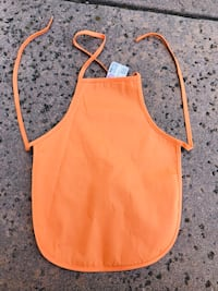 Kid's Orange Apron-Perfect for crafts & cooking! Los Angeles, 90049