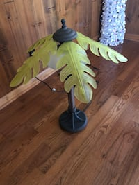 "Palm tree lamp, coconuts hold light bulbs approximately 32"" tall 138 mi"