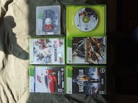 six Xbox 360 games, 15 for each or best offer Marion, 46953