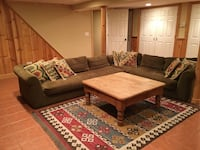 3 piece sectional sofa and knotty pine coffee table Jericho, 11753