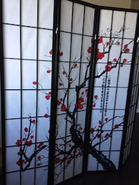 """New """"Cherry Tree"""" Privacy/Room Divider Silver Spring"""