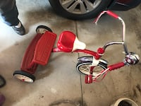Radio Flyer Classic Red Dual Deck Tricycle Olyphant, 18447