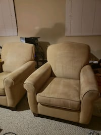 brown leather padded sofa chair Edmonton
