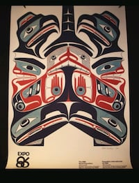 Rare Robert Davidson Expo 86 poster, mint condition. Rolled.