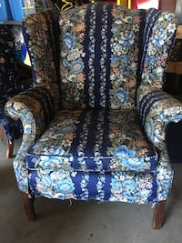 Two wing back chairs- upholstery project Carlsbad, 92008