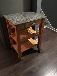 Granite Kitchen Cart w/ wine rack Nashville