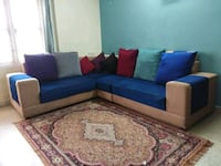 blue and white sectional couch Bengaluru, 560008