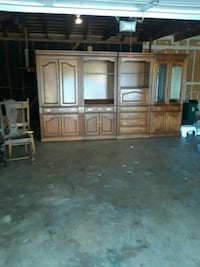4 piece entertainment center with built in desk Oakland, 94605