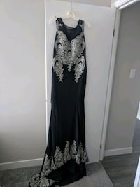 black and silver gown Calgary, T2A