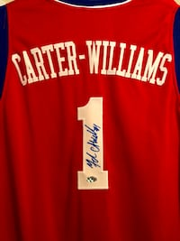 Nerlens Noel and Michael Carter Williams signed 76ers jersey w/proof and coa Bensalem, 19020