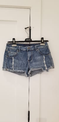 women's blue denim short shorts VANCOUVER