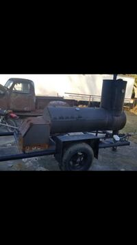 Large smoker/bbq grille on trailer