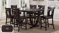 PLACE YOUR ORDER GET IN 7 DAYS, Affordable Dinning Table Set , 6 Chairs We Deliver Visit Us Johnston