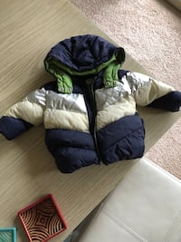 Blue and silver baby boy zip-up bubble jacket Alexandria, 22312