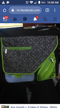 green and black diaper bag Vancouver