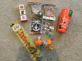 Halloween decorations and baking items