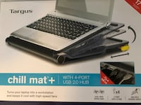 Targus - Chill Mat+ Laptop Cooling System with 4-Port USB Hub