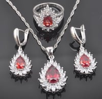 925 sterling silver ruby jewellery set  Whitchurch-Stouffville, L4A 6L1