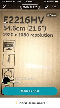 """Dell 21"""" New Monitor Keasbey, 08832"""