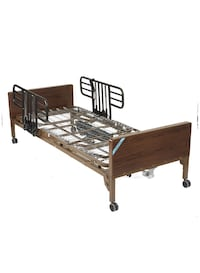 "Drive Medical Full Electric Ultra Light Plus Hospital Bed, Brown, 36"" Hagerstown, 21740"