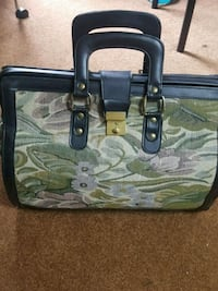 gray and green floral tote bag 569 km