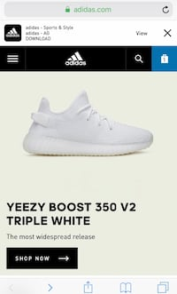 Yeezy Boost 350 V2 Triple White! Willowbrook