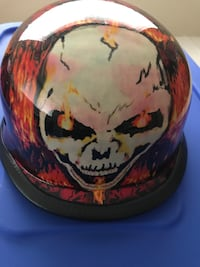 Red and white skull paint helmet Owings Mills, 21117