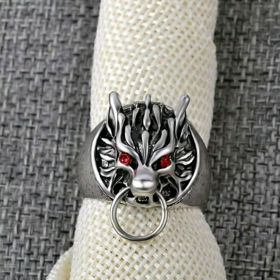 Brand new stainless steel mens ring