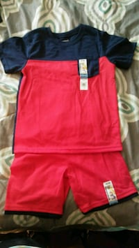 Red and navy set.  Houma, 70364