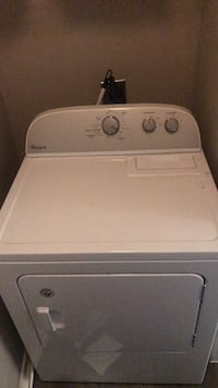 White front-load clothes dryer Plano, 75093