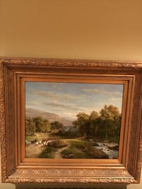 brown wooden framed painting of house Gainesville, 30504