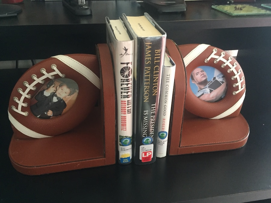 Photo FOOTBALL photo BOOKENDS leather